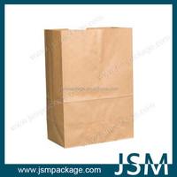 Brown kraft grocery paper bag supermarket paper bag without handles