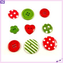 Christmas ornament Button for card making and decoration Christmas