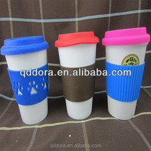 Newest professional 16oz plastic coffee cup with twist-on lid/Hot sell great promotion coffee cup
