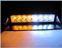 8 LED Strobe Flash Warning EMS Police Car Light Flashing Firemen Fog 8LED High Power Red and Blue