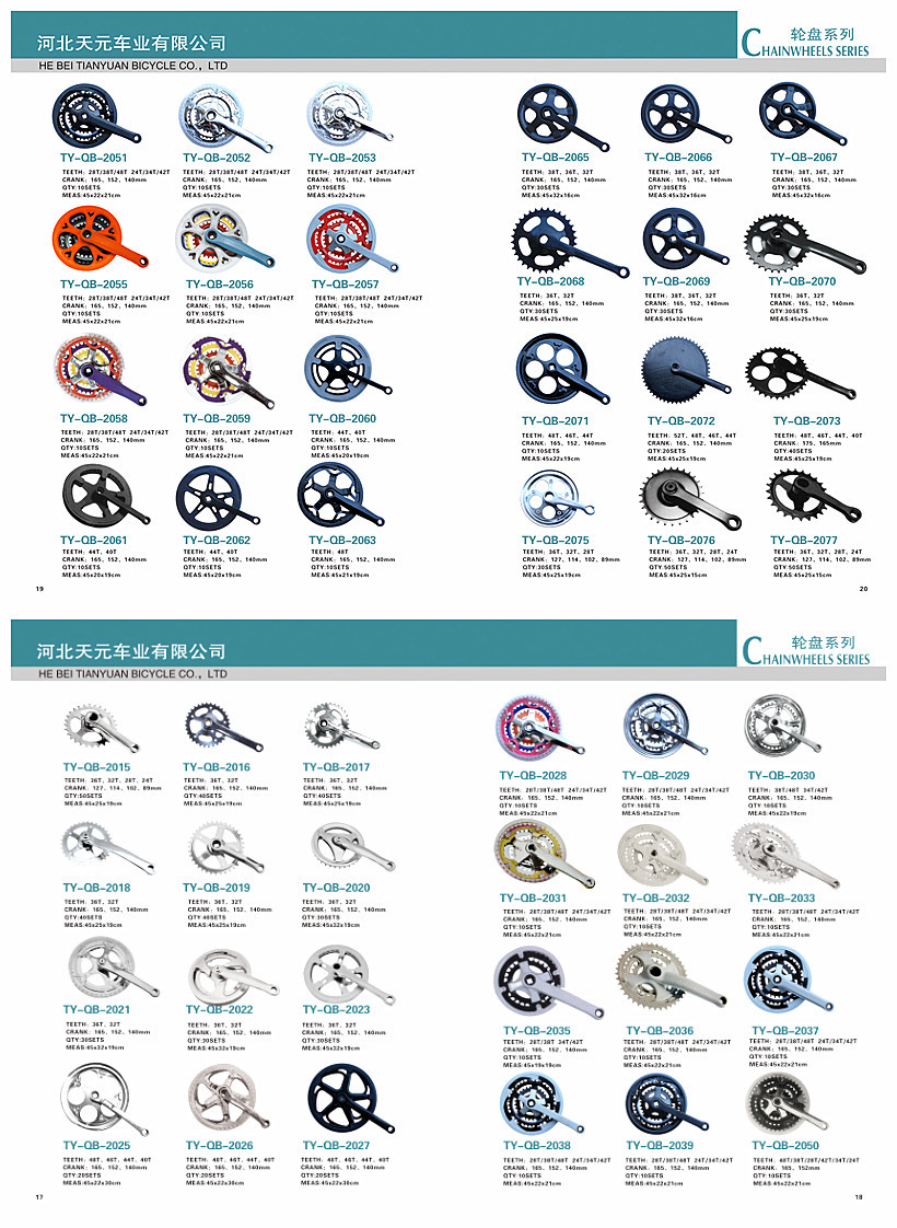 steel triple chainwheel CP 28t/38t/48t bicycle bike parts chainwheel&crank with chaincover