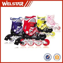 Boys' Shoes Adjustable Mesh In-line Skate PP/PA Material Three PVC Round and One Laser Wheel