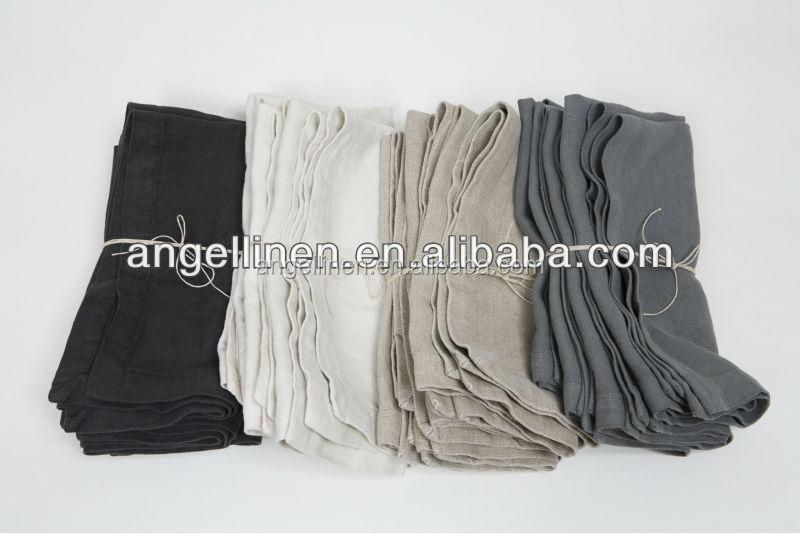 Customzied kitchen linen tea towel in solid colors plain for wholesale