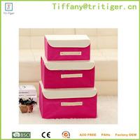 Portable non-woven trunk organizer box 3 pcs/Set home organizer box