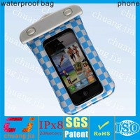 Beautiful soft pvc waterproof case for iphone with IPX8 certificate