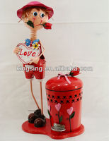 wedding decoration doll metal crafts with trash