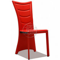 Top Selling Sex Red Leather Metal Legs Dining Chairs LKZ621-1