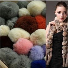 Factory direct supply rabbit skin fur material rabbit fur pompom ball