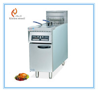 Vertical commercial electric chicken fryer with timer oil filter