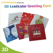 Real factory lenticular printing High quanlity Thanksgiving Day handmade greeting card