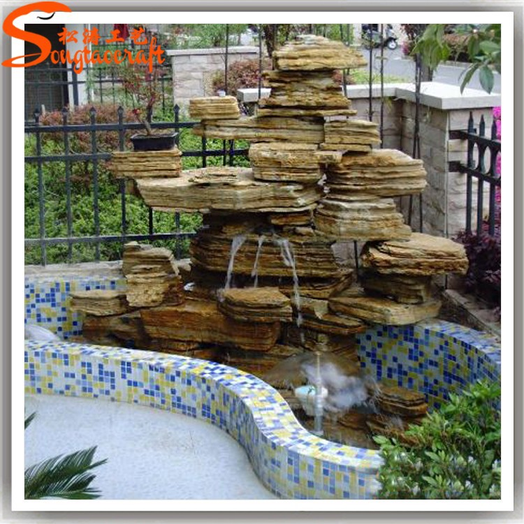 chine fabricant gros mini cascade int rieure artificielle cascade fontaine en fiber de verre. Black Bedroom Furniture Sets. Home Design Ideas