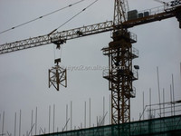 used topkit tower crane / 6t load / double dyration / hot sale