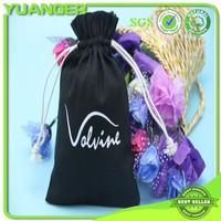 Good Quality Latest Custom Promotional Black Cotton Drawstring Bags