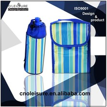 Polyester Thermal cooler/ Lunch Bag sets Cool/picnic bag with Packaging Water Bottle bag