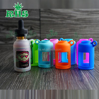 Portable Carrying Case for E-liquid Juice Bottle fit for Outdoor Assoted Colors Silicone Bottle Cover for Essential Oil