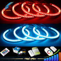 Multi color changing wifi remote RGB led angel eyes for bmw e36 e39 e46