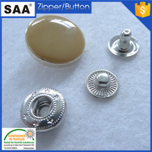 Fancy large yellow color snap button for pants brass material