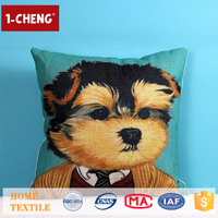 Trade Assurance Creative Puppy Printed Design Custom Cushion Home Decor Pillow Case Dog Seat Cover