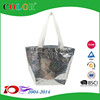 China manufacturer metallic shopping bag with logo customized