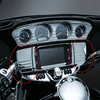 Chrome Deluxe Tri Line Stereo Trim Cover for Harley Touring Models 2014-2015 New