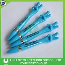 Direct Manufacturer Finger Shape Multicolor Plastic Pen