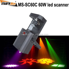 60W LED scanner ( rotation gobo) / professional dj show lighting / LED stage light