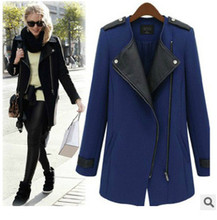 HFR-AN337 2015 Europe autumn-winter latest coat designs for women trench coat