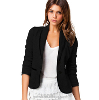 OEM Custom Design Fashion Women Formal Short Jacket Blazer