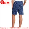 homens rhr folha azul curto calça casual faixa de borracha de calças curtas design para homens