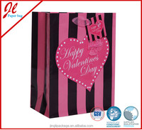 Big Heart Wedding Paper Bags Valentine Gift Bags for Valentine Day
