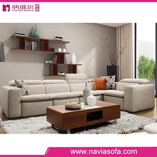 Living room fabric furniture modern corner l shape 6 seater sofa set from foshan manucacturer