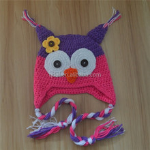 China factory made crochet knitting animal beanies,soft cotton crochet animal cap baby,cute crocheted baby animal hats