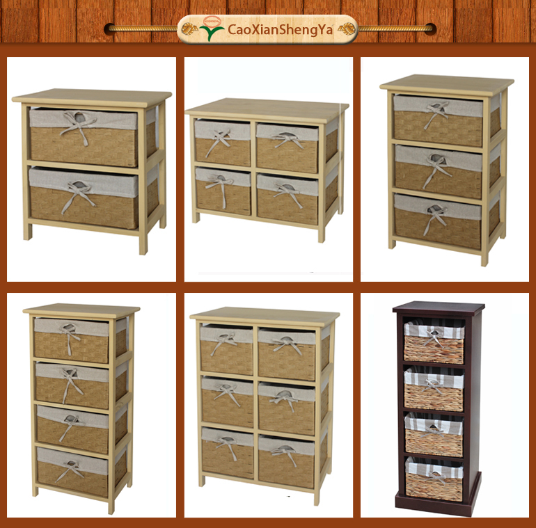 Prateleiras de madeira para cesta de vime mob lia da sala - Cestas para armarios ...