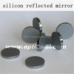 silicon reflected mirror for co2 laser, 25mm optics grade silicon reflected mirror, customized silicon reflective mirror