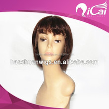 China wholesale brazilian hair short bob lace front wigs