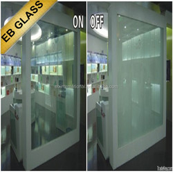 remote control Intelligent glass ,museum display cases electric glass EB GLASS BRAND