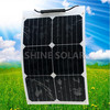 semi flexible 200W American sunpower solar module for boats, caravans,,mobile homes used with CE certified