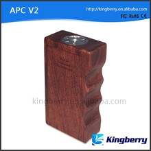 New huge vapor wood box mod wooden box apc 18650 apc box mod
