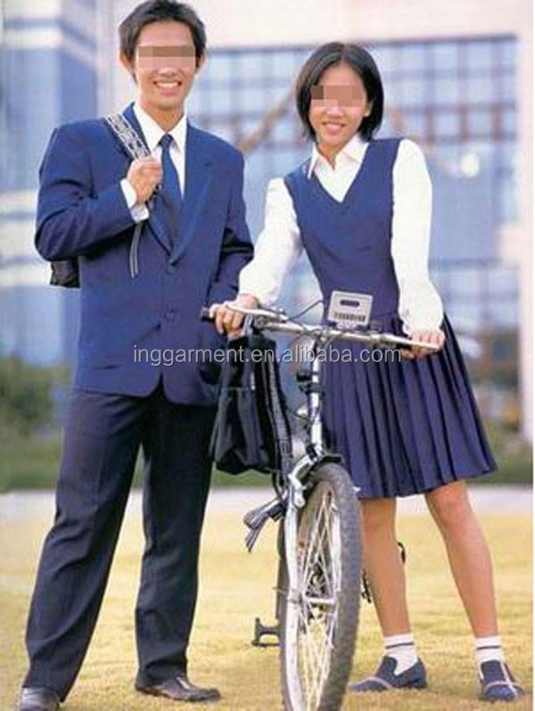 Hot vente uniforme scolaire! Lycée uniforme chemise et robe
