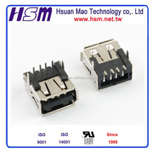 HSM USB 4PIN A TYPE FEMALE PCB TYPE CONNECTOR TAIWAN C8332