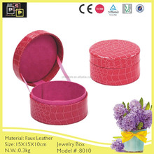 Round custom leather and velvet jewelry display cases wholesale