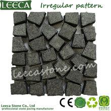 G684 black granite spit mesh paving stone