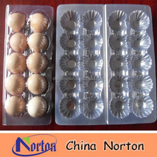 Customized clear disposable plastic food container blister packaging for eggs NTPC- 107B