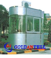 Low cost security guard house electronic barrier gate & movable sentry box & steel police box house