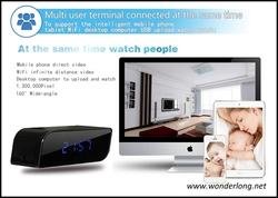 New arrival nanny spycam clock radio with sd usb card slot