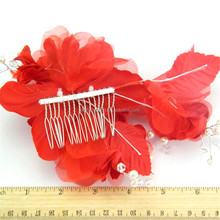 Fashion hot sell decoration black and white silk flowers