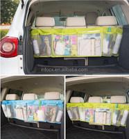 Car accessory back seat tidy organizer / Multi-Pocket Holder Pouch / car Mesh Storage Bag
