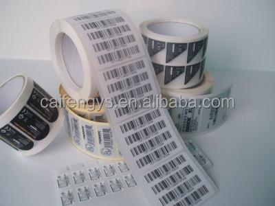 Zebra folha etiquetas de código de barras