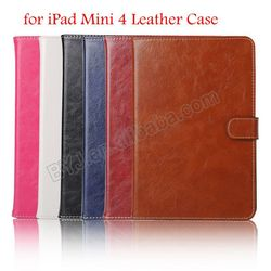 for iPad Mini 4 New PU Case, Book Style Case for iPad Mini 4, Flip Leather Case for iPad Mini 4 Cover with Card Holder