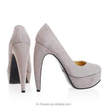 Designed high heels Woman Grey High Court Shoes